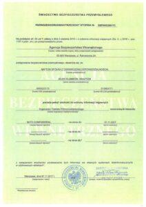 swiadectwo bezp przem22 - Naftor Sp. zo.o.
