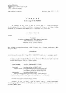 Decyzja 6 ochrona - Naftor Sp. zo.o.