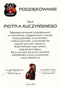 podziekowanie osp - Naftor Sp. zo.o.