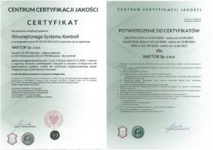 certyfikat wsk1 wersja 1 - Naftor Sp. zo.o.
