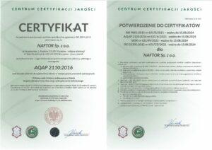 certyfikat aqap 2120 v2 - Naftor Sp. zo.o.