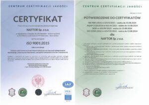 certyfikat iso 9001 v2 - Naftor Sp. zo.o.