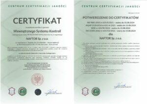 certyfikat wsk - Naftor Sp. zo.o.