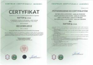 certyfikatiso 22301 v2 - Naftor Sp. zo.o.