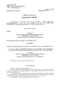 decyzja 8 strona 1 - Naftor Sp. zo.o.